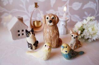 写真を送って生前そっくり、ペットの仏壇に飾る「オーダーメイドのミニ骨壷」がかわいい